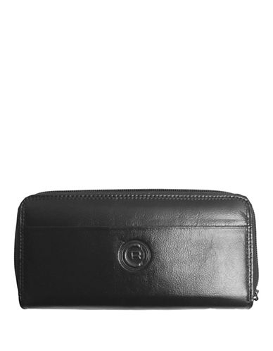 Club Rochelier Traditional Zip Around Clutch-BLACK-One Size