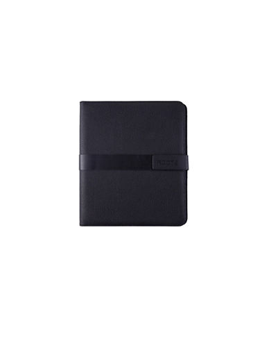 Roots Deluxe Magnetic Tab Padfolio-BLACK-One Size