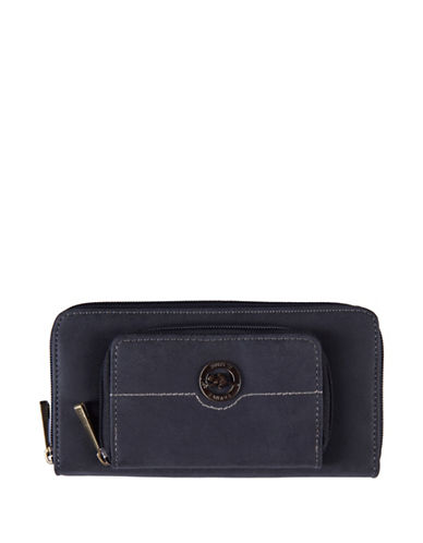 Roots 73 Earth Day Zippered Round Clutch-BLACK-One Size