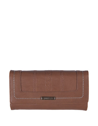 Roots 73 Journey Pocket Clutch-BROWN-One Size