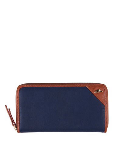 Roots 73 City Soldier Zip-Around Wristlet-NAVY-One Size