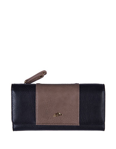 Roots 73 Colourblock Slim Clutch-BLACK-One Size