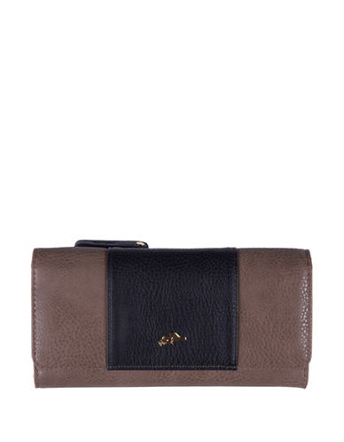 Roots 73 Colourblock Slim Clutch-STONE/BLACK-One Size