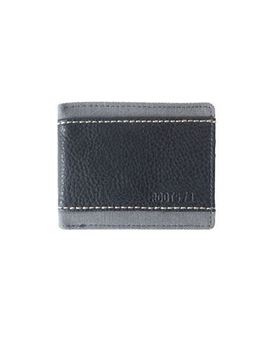 Roots City Park Slim Wallet-CHARCOAL-One Size