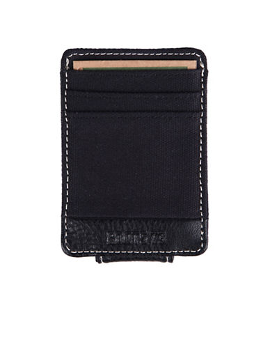 Roots Longitude Magnetic Money Clip-BLACK-One Size