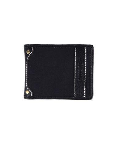 Roots Longitude Slim Wallet-BLACK-One Size
