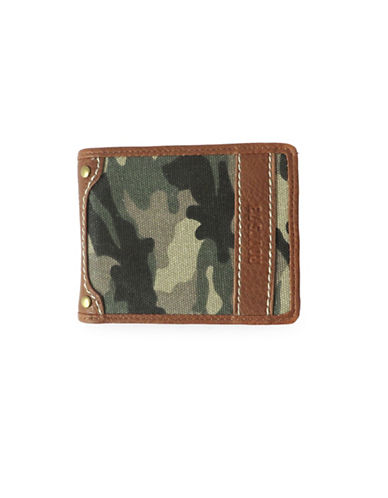 Roots Longitude Slim Wallet-GREEN-One Size