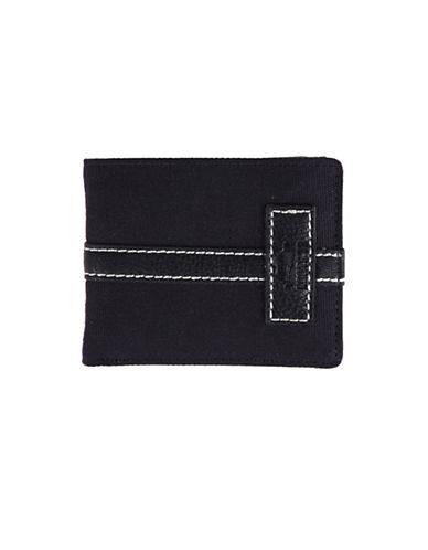 Roots Meridian Slim-Fold Wallet-BLACK-One Size