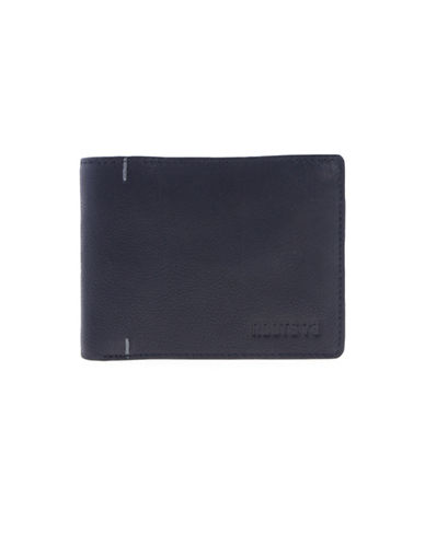 Roots Alexander Leather Slim Wallet-BLACK-One Size