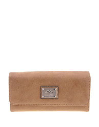 Roots 73 Tuktu Nubuck Wallet-BEIGE-One Size