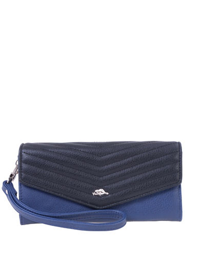 Roots 73 Arrowhead Wristlet Clutch-NAVY/BLACK-One Size