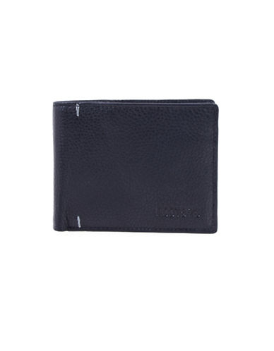 Roots Alexander Handcrafted Leather Slim-Fold Wallet-BLACK-One Size