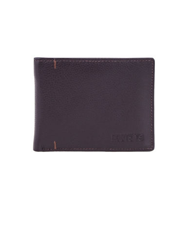 Roots Alexander Handcrafted Leather Slim-Fold Wallet-BROWN-One Size