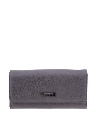 Roots 73 Nightshade Textured Clutch-BLACK/BROWN-One Size