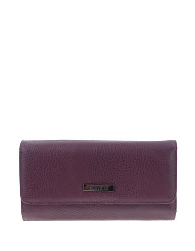 Roots 73 Nightshade Textured Clutch-BLACK/BERRY-One Size