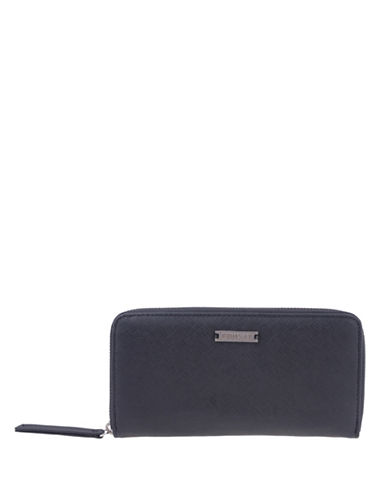 Roots 73 Kipik Zippered Round Clutch-BLACK-One Size