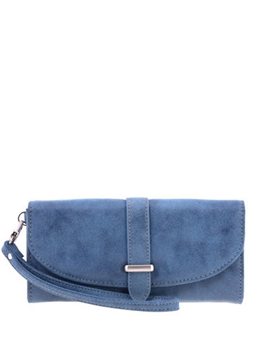 Roots 73 Talluk Flap Wristlet-BLUE-One Size