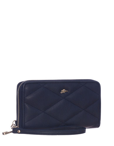 Roots 73 RFID Protection Quilted Clutch Wallet-NAVY-One Size