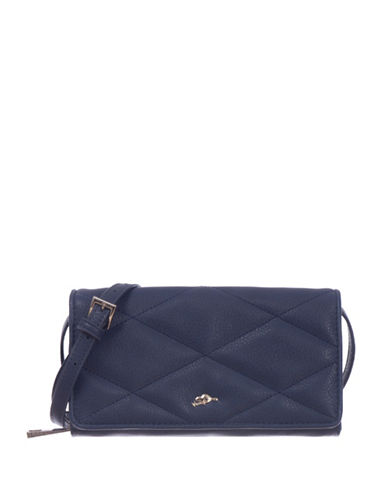 Roots 73 RFID Protection Quilted Foldover Clutch Wallet-NAVY BLUE-One Size
