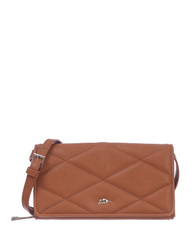 Roots 73 RFID Protection Quilted Foldover Clutch Wallet-LATTE-One Size