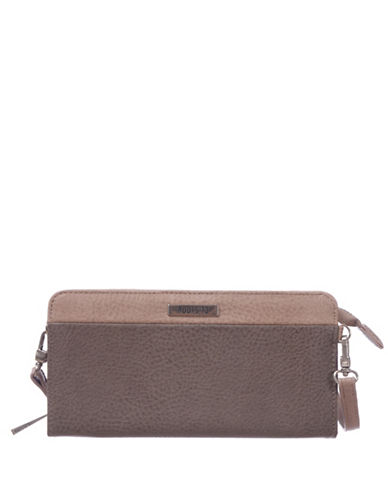 Roots 73 RFID Protection Zip Wallet Clutch-TAUPE-One Size