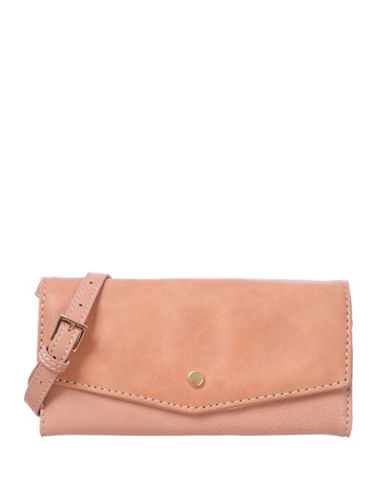 Roots 73 RFID Protection Two-Tone Clutch-PEACH-One Size