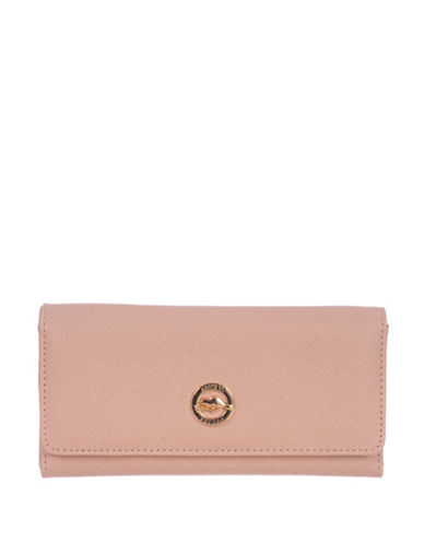 Roots 73 RFID Protection Crosshatch Slim Wallet-PINK-One Size