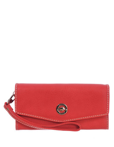 Roots 73 RFID Protection Envelope Clutch Wallet-PINK-One Size