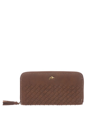 Roots 73 Zip-Around Clutch Wallet-BROWN-One Size