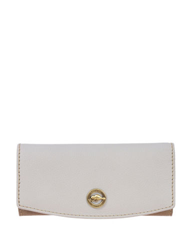Roots 73 Snap Flap Slim Wallet-IVORY-One Size