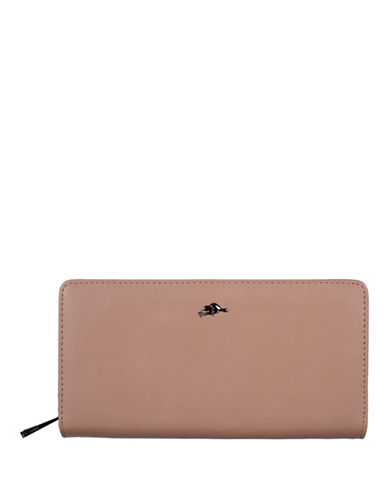 Roots 73 Slim Zip-Around Wallet-BLUSH-One Size