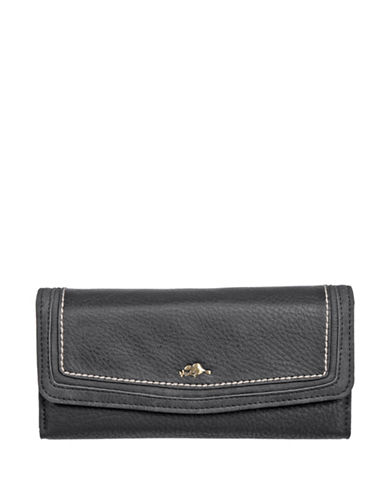 Roots 73 Flap Continental Wallet-BLACK-One Size