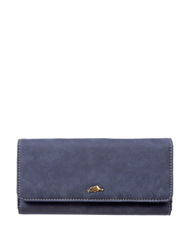 Roots 73 Soft Flap Continental Wallet-NAVY-One Size