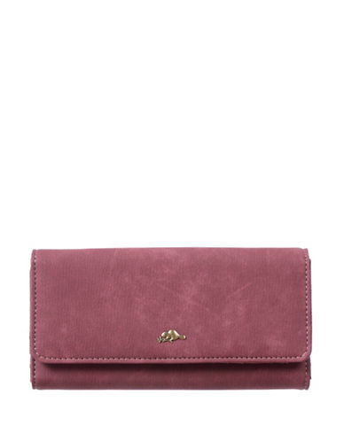 Roots 73 Soft Flap Continental Wallet-BERRY-One Size