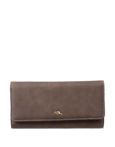 Roots 73 Soft Flap Continental Wallet-BEIGE-One Size