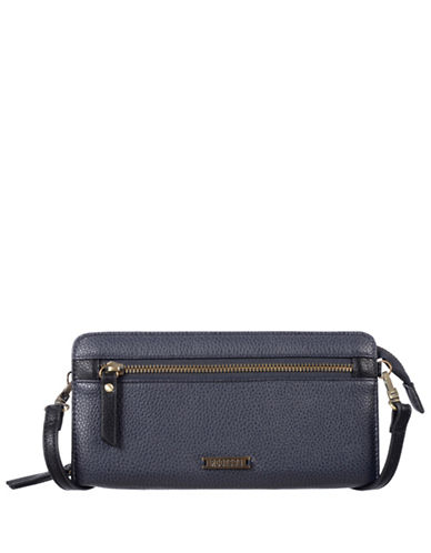 Roots 73 Textured Convertible Zip-Around Wallet-NAVY-One Size