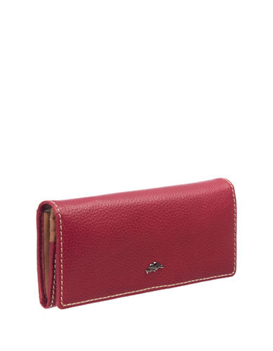 Roots 73 Slim Leather Continental Wallet-PINK-One Size