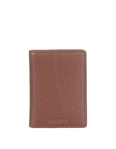 Roots 73 RFID Licence Card Case-BROWN-One Size