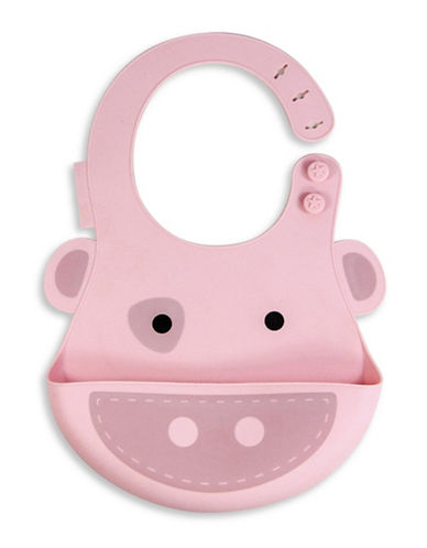 Marcus & Marcus Pokey the Pig Silicone Baby Bib-PINK-One Size