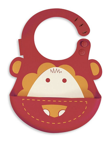 Marcus & Marcus Marcus the Lion Silicone Baby Bib-RED-One Size
