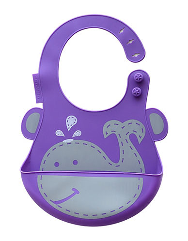 Marcus & Marcus Willo the Whale Silicone Baby Bib-PURPLE-One Size