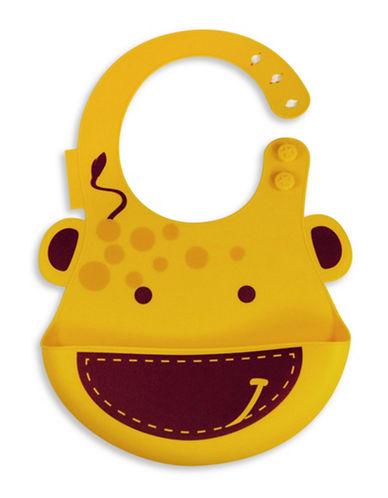 Marcus & Marcus Lola the Giraffe Silicone Baby Bib-YELLOW-One Size