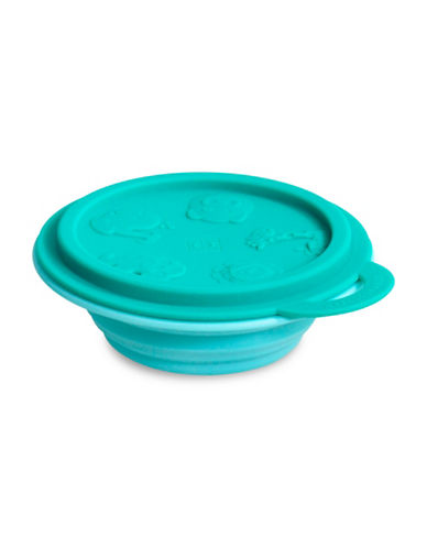 Marcus & Marcus Ollie the Elephant Collapsible Silicone Baby Bowl-GREEN-One Size