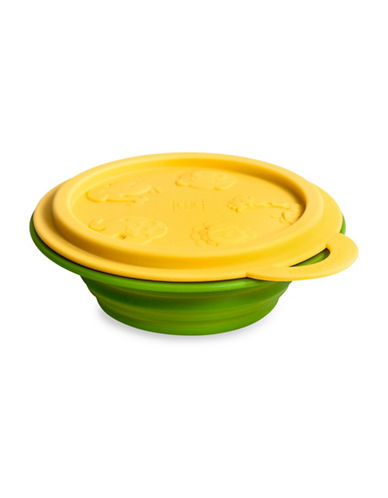 Marcus & Marcus Lola the Giraffe Collapsible Silicone Baby Bowl-YELLOW-One Size
