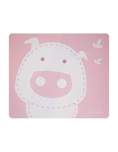 Marcus & Marcus Pokey the Pig Silicone Placemat-PINK-One Size