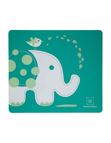 Marcus & Marcus Ollie the Elephant Silicone Placemat-GREEN-One Size