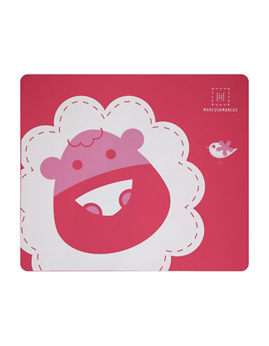 Marcus & Marcus Marcus the Lion Silicone Placemat-RED-One Size
