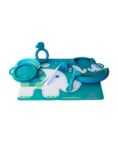 Marcus & Marcus Ollie the Elephant Silicone Baby Feeding Six-Pack-GREEN-One Size