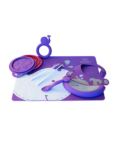 Marcus & Marcus Willo the Whale Silicone Baby Feeding Six-Pack-PURPLE-One Size
