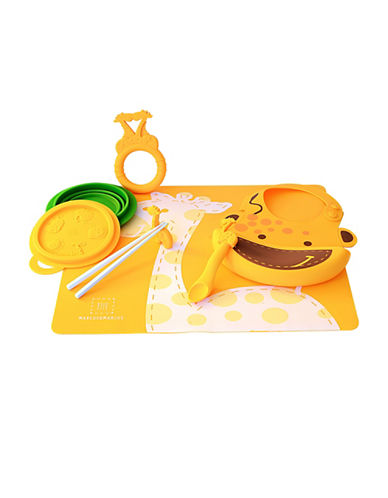 Marcus & Marcus Lola the Giraffe Silicone Baby Feeding Six-Pack-YELLOW-One Size
